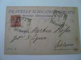 Corato Bari Cartolina Pubblicità  F.lli Malcangi 1901 - Altre Città
