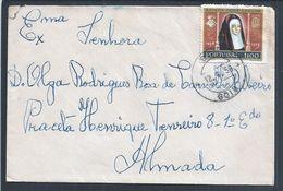 Carta Circulada De Gois, Coimbra Com Stamp Da Rainha D. Leonor Em 1958. Queen Leonor, Portugal. - 1910-... Republic