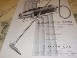 ANCIENNE PUBLICITE FIDELE DOMESTIQUE ET  ELECTRO LUX 1928 - Wissenschaft & Technik
