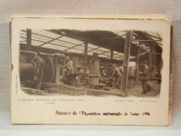 CPA BELGIQUE - LIEGE - EXPO 1905, COMPAGNIE DES CONDUITES D'EAU -  OUVRIERS DANS FONDERIE DE TUYAUX - Lüttich