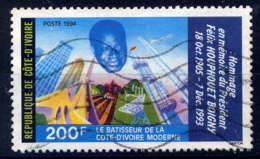 COTE D'IVOIRE - 922° - FELIX HOUPHOUET BOIGNY - Costa De Marfil (1960-...)