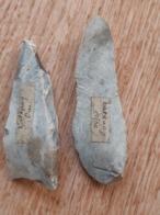Lot De 2 Silex Taillés Néolithiques, Catenoy (Oise), Ancienne Collection - Archéologie
