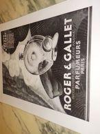 ANCIENNE PUBLICITE PARFUM PAVOTS D ARGENT    DE ROGER GALLET  1928 - Parfums & Beauté