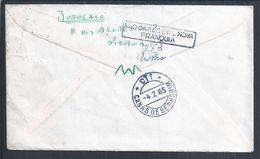 Carta Reexpedida De Canas De Senhorim, Nelas Em 1965 Com Sobrecarga 'Não Carece De Nova Franquia'. - 1910-... République