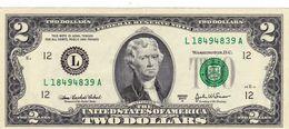 "USA 2 DOLLARS 2003 A SAN FRANCISCO CALIFORNIA (L) PREFIX ""L-A"" AU ""free Shipping Via Regular Air Mail (buyer Risk)"" - Federal Reserve (1928-...)"