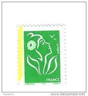 Lamouche TVP Vert ITVF TYPE II YT 3733a Avec Bande De Phosphore à Gauche . Rare , Voir Scan . Maury N° 3715 II B : 11 € - Variedades: 2000-09 Nuevos