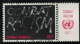Nations Unies 1977 Oblitéré Used ONU Graffiti Combat Racism Lutte Contre Le Racisme SU - New-York - Siège De L'ONU
