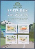 Voitures Et Vacances Collector 4 TVP LV Fiat 500, Combi Volkswagen, Renault 16, Panhard PL17, Cadre Gris Philaposte Neuf - Collectors