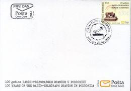2014 FDC, The 100th Anniversary Of The Podgorica Radio-Telegraph Station, Montenegro, MNH - Montenegro