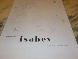ANCIENNE PUBLICITE PARFUM MON SEUL AMI DE ISABEY  1929 - Parfums & Beauté