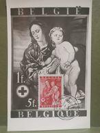 Carte Maximum, Croix Rouge 1944. La Vierge Avec L'enfant - 1934-1951