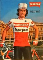 Postcard Simone Fraccaro - Carrera-Inoxpran - 1984 - Ciclismo