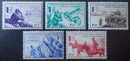 "R1337/133 - 1942 - FRANCE - LVF - SERIE "" BORODINO "" COMPLETE - N°6 à 10 NEUFS** - Cote (2020) : 25,00 € - Liberation"