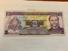 Honduras 2 Lempiras Uncirc. Banknote 2008 #1 - Honduras