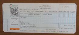 ITALIA Ticket Biglietto Treno Tariffa 39/AS Km 62  GENOVA BRIGNOLE/ACQUI TERME  - 2018 - Chemins De Fer