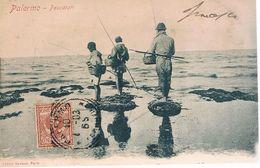 B3735- Palermo, Pescatori, Viaggiata 1903 Retro Indiviso - Palermo