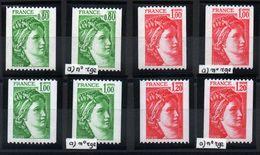 YT N° 1980 à 1981Ba - Neufs ** - Cote: 21,80 € - Variedades Y Curiosidades