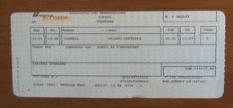 ITALIA Ticket Biglietto Prenotazione Treno ICPLUS 656 VOGHERA/MILANO  - 2007 - Chemins De Fer