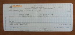 ITALIA Ticket Biglietto Andata/Ritorno Treno Tariffa 39/016 ACQUI TERME/ S. GIUSEPPE DI CA  - 2007 - Chemins De Fer