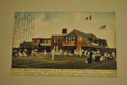 Etats Unis The Meadow Club Southampton Terrain De Tennis Cpa Animée Timbre Philatelie - Long Island