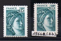 YT N° 1966 + 1966a - 2 Bandes De Phosphore - Neufs ** - Cote: 170,00 € - Variedades Y Curiosidades