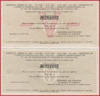 Emprunts Serbes. Royaume De Yougoslavie. Belgrade 14 Octobre 1936 1937. 2 Actions Au Graphisme Un Peu Différent. - Acciones & Títulos