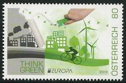 "AUSTRIA/ ÖSTERREICH - EUROPA 2016 -TEMA ""ECOLOGIA -EL PENSAMIENTO VERDE -THINK GREEN"".- SERIE 1 V. - 2016"