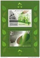 "BULGARIA/ BULGARIE/ BULGARIEN  -EUROPA 2016 -TEMA "" ECOLOGIA - EL PENSAMIENTO VERDE - THINK GREEN"".- HOJITA BLOQUE - Europa-CEPT"