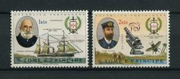 Portugal St Thomas Sao Tome 1967 NAVY CLUB, BOAT, SHIP, BATEAU, NAVIRE Complete Set MNH, FVF - St. Thomas & Prince