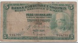 ALBANIA  P. 2b 5 F 1926 F - Albania