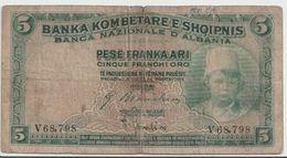 ALBANIA  P. 2b 5 F 1926 F - Albanie