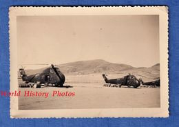 Photo Ancienne - ALGERIE , Base Aérienne à Situer - Lire Verso - 1961 - Hélicoptere - RAS SERDOUX - Armée De L'Air Avion - Aviazione