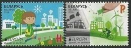 "BELARÚS/ BIELORRUSIA/ WEISSRUSSLAND - EUROPA 2016 -THÈME ANNUEL ""THINK GREEN"".- SET Of 2 Stamps - 2016"