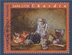 Raisins Et Grenades Oeuvre De Chardin N°3105 Oblitéré - France