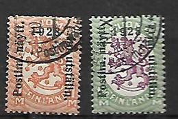 Finlande 1928     Cat Yt N° 134, 135 - Unused Stamps