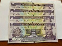 Honduras Lot Of 4 Uncirc. Banknotes 2008 - Honduras