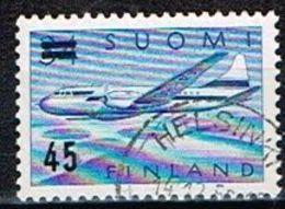 FINLANDE/Oblitérés/Used/1959 - Convair Metropolitain 440 Surchargé - Usados
