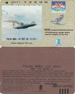 98/ Indonesia; Airliner, Tamura, New Overprint Value, Rare - Indonésie
