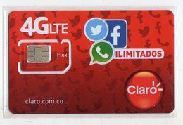 COLOMBIE CARTE GSM CLARO VERSO NUMEROTEE - Kolumbien
