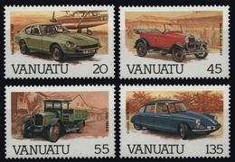 Vanuatu 1987 - Mi-Nr. 740-743 ** - MNH - Autos / Cars - Vanuatu (1980-...)
