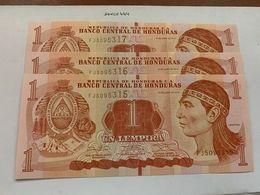 Honduras Lot Of 3 Uncirc. Banknotes 2014 - Honduras