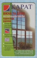 UKRAINE / Chernihiv Region / Phonecard Ukrtelecom / Advertising Metalplastic Window CARAT. 10/02 - Ucraina