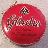 Old Metal BOX GLADIS ISKRA ZELINA Lastilo Krema Za Obucu Cipele Croatia - Boîtes