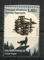 Le Collier De Loup, Collier De Fer à Pointes Pour Protéger Les Chiens De Berger. Timbre Neuf ** 2020 - Andorra Francesa