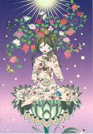 AOSHIMA: Epingle à Cheveux En Rosier [ Nu Femme Nude CPM ] FM004 - Paintings