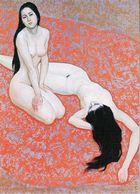 JEUN: Deux Amoureuses  [ Nu Femme Nude Couple Lesbiennes LGBT CPM Chinoise ] FM019 - Paintings