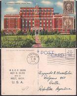 Lansing MI - Post Card - Lawrence Hospital  - 1938 - Circulee - Cygnus - Lansing