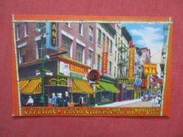 Greetings Chinatown  New York City New York     Ref 4179 - Manhattan