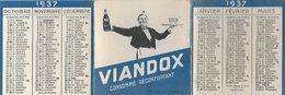 Calendrier De Poche - 1937 - VIANDOX - Consommé Réconfortant - - Calendarios