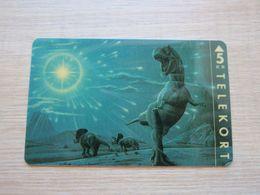 Magnetic Phonecard, Dinosaurs,mint - Denmark